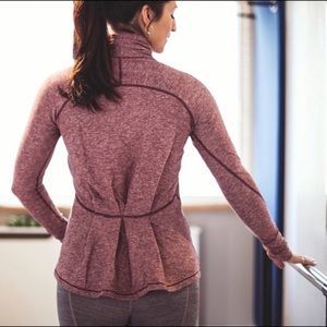 Lululemon long sleeve warm up peplum top